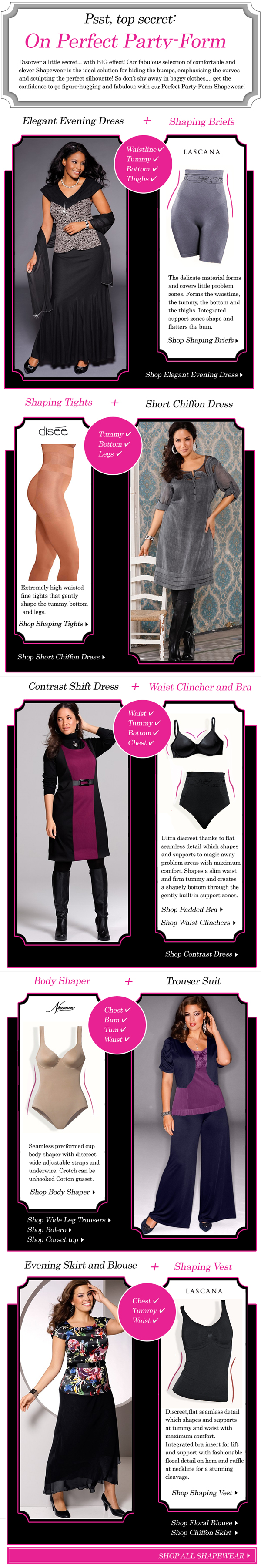 6b93e0a3f87ee Our fabulous selection of comfortable and clever shapewear is the ideal  solution for hiding the bumps